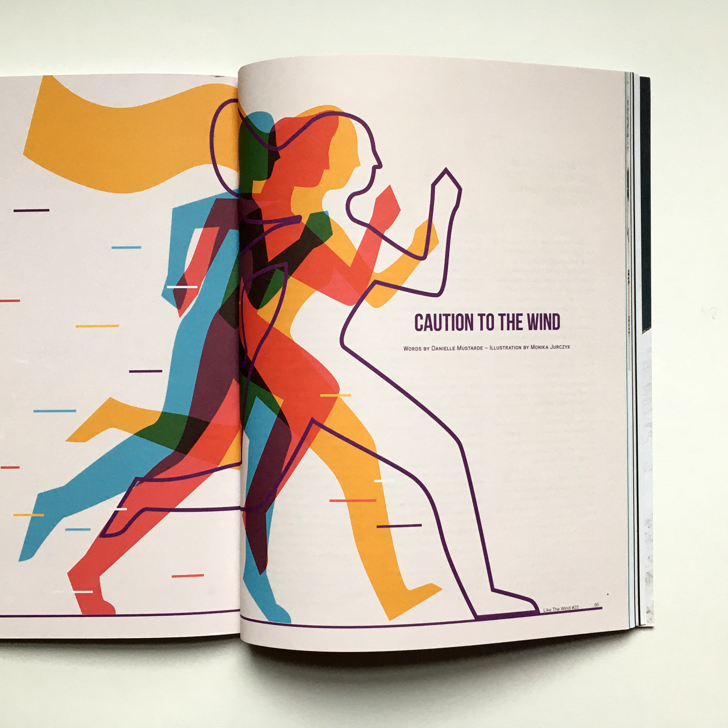 Editorial illustration for Like the Wind Magazine about Pride Run in Los Angeles