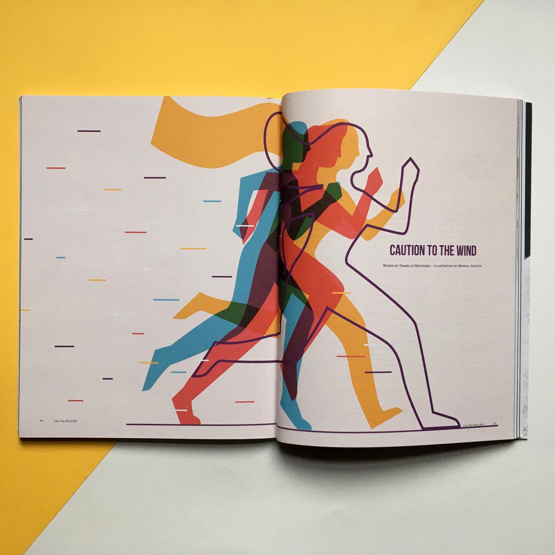 Caution to the wind_Like the Wind Magazine_editorial illustration by Monsie Monika Jurczyk