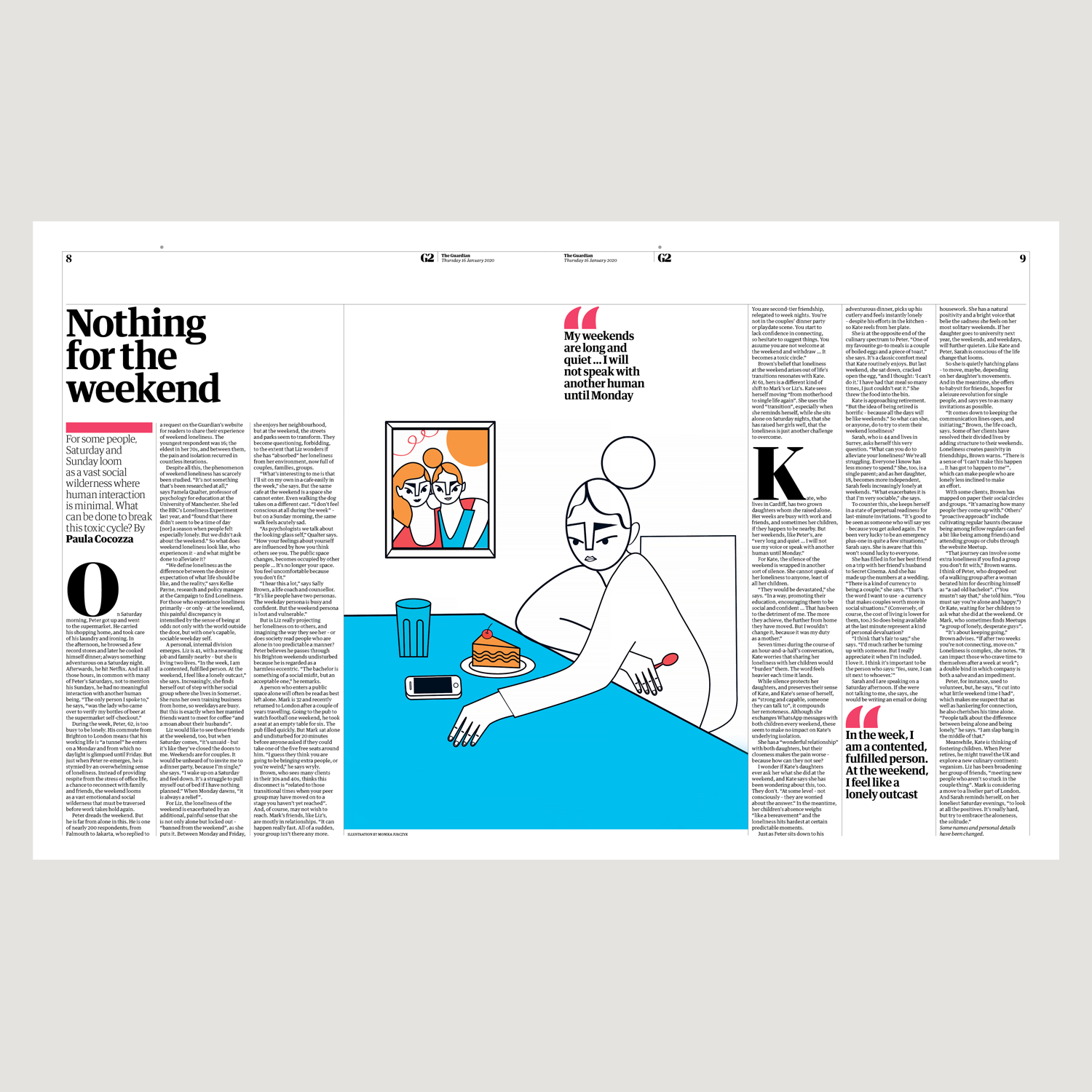 Feature in The Guardian UK_Weekend Loneliness