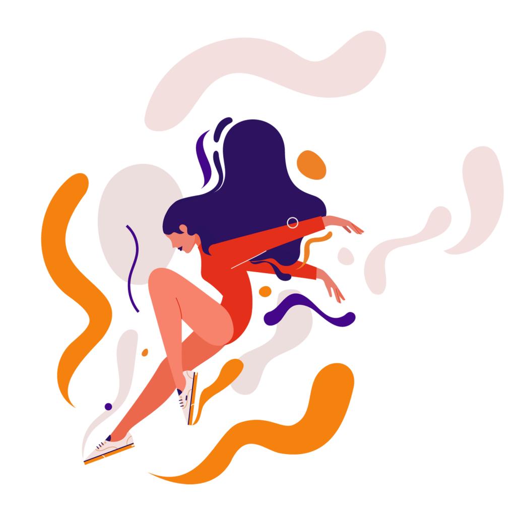 Jump mural illustration for Vans Monsie Monika Jurczyk