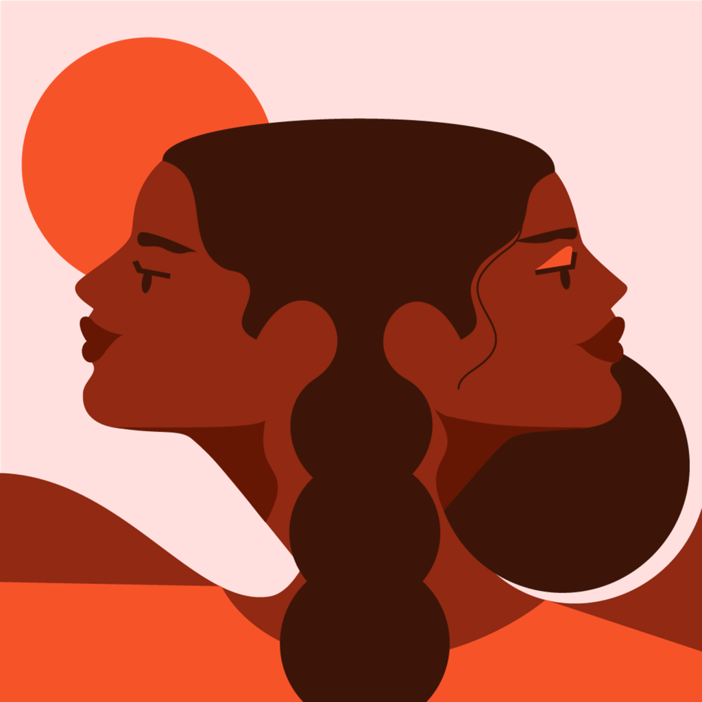 Intertwined_two women of colour connected with each other black magic women