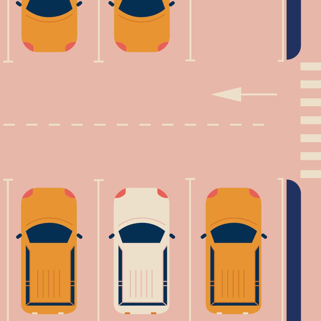 Company cars on a parking lot