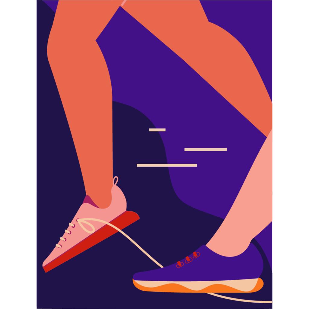 Editorial illustration on harassment of female runners